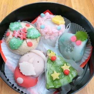 2019クリスマス和菓子5品.JPG